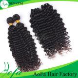 Do cabelo profundo não processado da onda de 100% extensão brasileira do cabelo humano