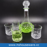 Qualidade elevada 850ml de Whiskey Cristal garrafa de vidro com 6 PCS basculante do vidro