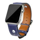 Breiten-echtes Leder-Apple-Uhrenarmband der Form-Entwurfs-gute Qualitäts22mm