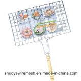 Acoplamiento de alambre al aire libre portable de la parrilla de la barbacoa Neting
