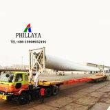 Mulino a vento Using della torretta del tubo di trasporto del camion il rimorchio della lamierina del vento di Lowbed semi