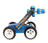 Câmara de inspecção de drenagem de cloaca com o Robô do trator de esteiras, Pan/ inclinar a câmara, 100m de cabo