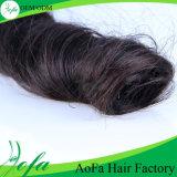 Estensione indiana non trattata 100% riccia dei capelli umani dei capelli del Virgin della molla