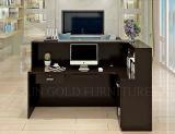 까만 색깔 가구 사무실 카운터 디자인에 의하여 사용되는 접수처 (SZ-RTB003-2)
