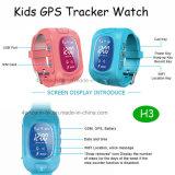 Montre de vente chaude de traqueur des gosses GPS avec le rail de temps réel (H3)