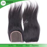 Novo Estilo de cabelo humano Brasileiro Reta Swiss Lace Encerramento