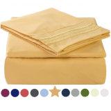Roupa de poliéster de microfibra 4 Pedaços Sheet Set Home Produtos Têxteis