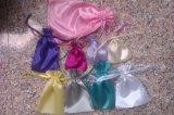 Bolsa promocional de cetim ou de veludo e nylon nylon 190t ou 210d saco de cordão de poliéster