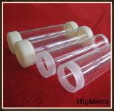 Tubo libero del tubo di vetro del quarzo fuso del filetto di vite