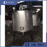 Doble tanque de acero inoxidable revestido de helado de depósito de envejecimiento