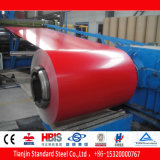 Acier enduit d'une première couche de peinture rouge rouge PPGI de Ral 3003