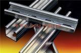電流を通されたUnistructはCチャネル生産機械マレーシアを形作る鋼鉄組み立てシステムロールに細長い穴をつけた