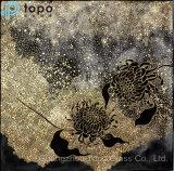 Mosaico abstrato chinês pinturas de vidro de parede fabricante (MR-YB6-2049D)
