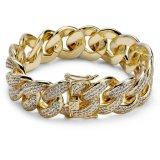 De Juwelen van de Manier van de Juwelen van Braceelt van de gouden en Zilveren Geplateerde Mensen van de Juwelen van de Armband van Hip Hop van de Juwelen van de Armband van de Ketting van de Diamant van de Douane Cubaanse