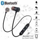 Xt-6 Metal auricular Bluetooth sem fio magnético de Esportes em fones de ouvido intra-auriculares com microfone mãos livres