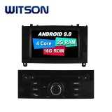 Processeurs quatre coeurs Witson Android 9.0 DVD de voiture GPS pour Peugeot 407 (noir brillant Frame) OBD2 Connexion Bluetooth