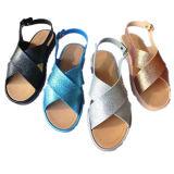 Playa Elegante Señoras PVC Jalea Zapatos Mujer Sandalia con Rhinestone