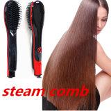 Modelador de cabelo mais recente ferramenta profissional de produtos de beleza cabelo cabelos vapor pente alisador de cabelo da escova com depósito de água incorporado