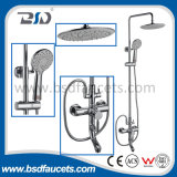 2016 Unique Design Round Tube Chrome-Plated Bathroom Ensemble de douche en laiton