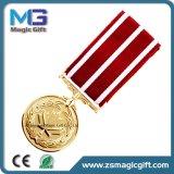 Médaille chaude d'armée d'étoile en métal de sein de ventes avec la bande courte