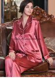 La haute couture en pure soie pyjamas pour Ladys Vêtements de nuit de la soie