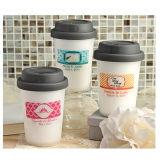 Taza de papel de un sólo recinto impresa insignia al por mayor de la fábrica de China del precio bajo con las tazas de café reutilizables de las tapas