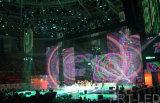 Écran d'affichage de rideau à LED pliable / flexible P10 pour un fond de scène / évènement en plein air