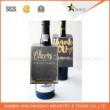 Карточка изготовленный на заказ головки для шеи бутылки вина с печатание логоса