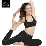 Pantaloni neri della caviglia di Legging di yoga per funzionare