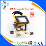10W LED Rechargeable Floodlight com soquete USB