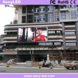 Высокая яркость для использования вне помещений полноцветный светодиодный экран для отображения видео рекламы