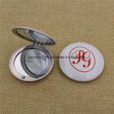 Logotipo personalizado de doble cara redonda de espejo de maquillaje cosmético