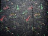 Ramie Cotton Tecido impresso para saia (DSC-4140)