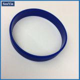 Logo personnalisé imprimé sur un bracelet en caoutchouc en silicone à une position