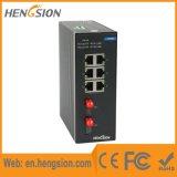 6 Schakelaar van het Netwerk van de Haven van Ethernet van de megabit de Industriële met Vezel 2