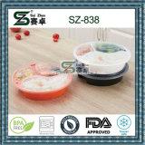 Ringsum 3 Fach-Nahrungsmittelgrad-Wegwerfnahrungsmittelvorratsbehälter