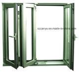 2017 Well-Designed de aluminio plegable de alta calidad única ventana de cristal