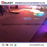 Luz interactiva sensible LED delgado estupendo Dance Floor P6.25/P8.928 de la etapa del alto pixel