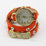 Mädchen-Form-Leder-Band-Armband-Armbanduhren