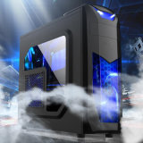 Caja de gama alta de la PC con el chasis fresco transparente del ordenador del juego del panel lateral
