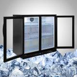 Стеклянные двери холодильника бутылку пива