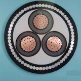 En polyéthylène réticulé Conducteur en cuivre Moyenne Tension isolés en PVC/gaine de câble aérien d'alimentation