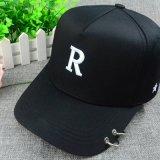 黒6のパネルポリエステル3D刺繍の急な回復の帽子