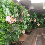 壁の装飾のための新しい人工花の背景幕