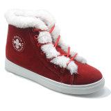 El nuevo diseño anuda los zapatos completados algodón del caucho de las mujeres de Fation de la felpa de los zapatos