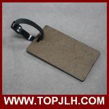 Étiquette en bois de bagage de forces de défense principale de sublimation