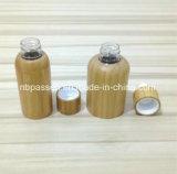 Nova chegada Pet plástico vaso de cosméticos com Bambu conta-gotas (PPC-BS-003)