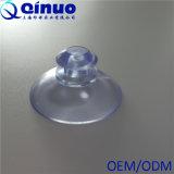 Copo plástico transparente da sução do vácuo da cabeça do cogumelo 35mm do vácuo forte feito sob encomenda de Qinuo