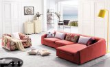 Sofá moderno do lazer da mobília da sala de visitas de Italy (F872)
