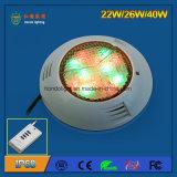 IP68는 40W LED 수영장 빛을 방수 처리한다
